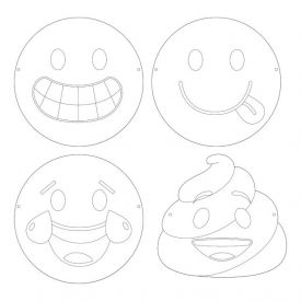 SHOW YOUR EMOJIONS™ FAVOR, COLOR-YOUR-OWN MASK