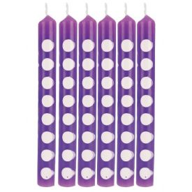 AMETHYST DECOR CANDLES DOTS AMETHYST