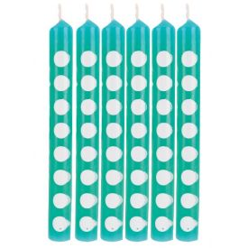 Teal Lagoon Decor Candles Dots Teal Lagoon