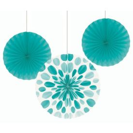 TEAL LAGOON DECOR FANS PR 16