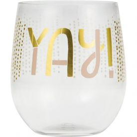 Yay Plastic Stemless Wine Glass - YAY