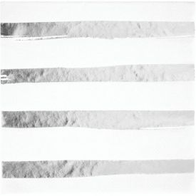 Toc White Silver Foil Luncheon Napkin 3ply, Foil Stamp Silver