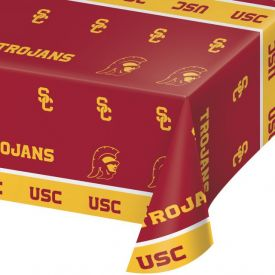 UNIV OF SOUTHERN CALIFORNIA PLASTIC TABLECOVER