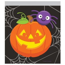 DÉCOR SANDWICH ZIPPER BAGS PUMPKIN & SPIDER