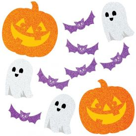DÉCOR CUTOUTS, GLITTER HALLOWEEN