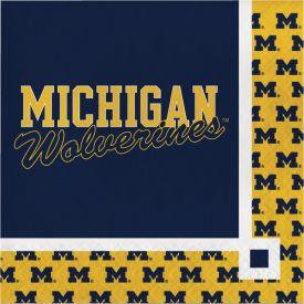 UNIVERSITY OF MICHIGAN BEVERAGE NAPKINS