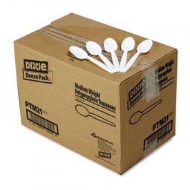Dixie® Plastic Cutlery, Mediumweight Teaspoons, White