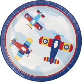 LIL' FLYER AIRPLANE DINNER PLATE