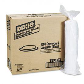 Dixie® Plastic Lids for Dixie® Hot Drink Cups, 8 oz, White