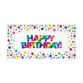 Rainbow Foil Bday Large Party Banner, Rainbow Foil Birthday