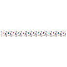 Rainbow Foil Bday Diy Pennant Banner, Rainbow Foil Birthday