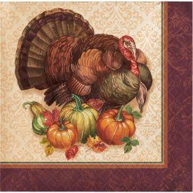 THANKSGIVING TURKEY BEVERAGE NAPKIN