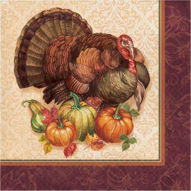 THANKSGIVING TURKEY LUNCHEON NAPKIN