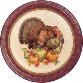 THANKSGIVING TURKEY LUNCHEON PLATE