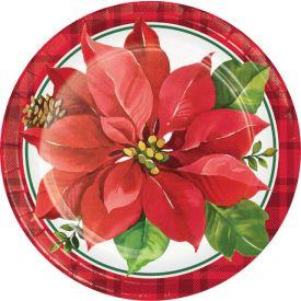 CHRISTMAS POINSETTIA DINNER PLATE