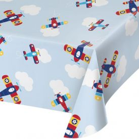 LIL' FLYER AIRPLANE PLASTIC TABLECOVER ALL OVER PRINT, 54