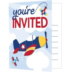 Lil' Flyer Airplane Invitation Foldover W/ Attachment