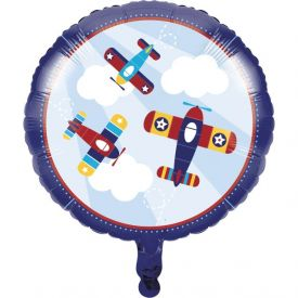 LIL' FLYER AIRPLANE METALLIC BALLOON 18
