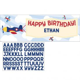 Lil' Flyer Airplane Giant Party Banner W/ Stck