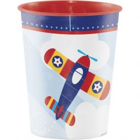 LIL' FLYER AIRPLANE PLASTIC KEEPSAKE CUP 16 OZ.