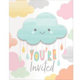 Sunshine Baby Shower Invitation Foldover W/ Attachment