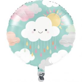 SUNSHINE BABY SHOWER METALLIC BALLOON 18