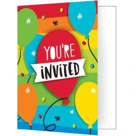 Hoppin' Birthday Cake Invitation Foldover W/ Attachment
