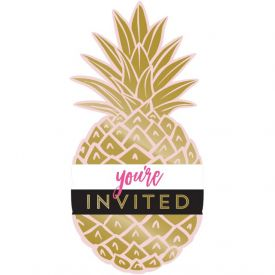 PINEAPPLE WEDDING INVITATION PSCD, FOIL