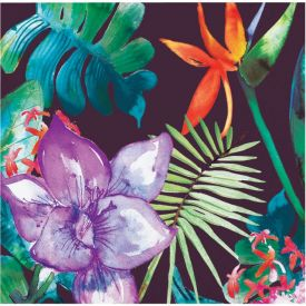 BOLD TROPICS BEVERAGE NAPKIN, 3 PLY BIRD OF PARADISE