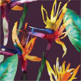 BOLD TROPICS LUNCHEON NAPKIN, 3 PLY TROPICAL FOLIAGE