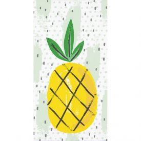 SUMMER FRUIT GUEST TOWEL, 3 PLY PINEAPPLE