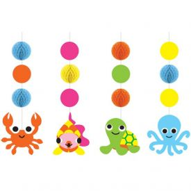 JUVI OCEAN HANGING CUTOUTS WITH HONEYCOMB