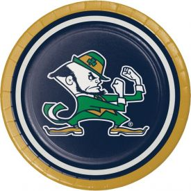 UNIV OF NOTRE DAME LUNCHEON PLATE