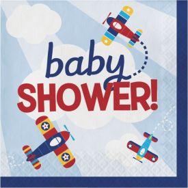 Lil' Flyer Airplane Luncheon Napkin Baby Shower