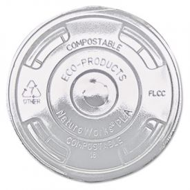 Eco-Products® Cold Drink Cup Lids, Flat, Clear