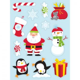 STICKERS, CHRISTMAS CHARACTERS