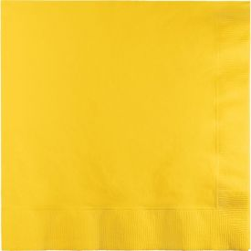 School Bus Yellow Lunch Napkins, 2-Ply, Bulk