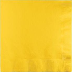School Bus Yellow Lunch Napkins, 2-Ply, Bulk