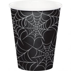 Metallic Spider Webs Hot Cold Cups 9 oz