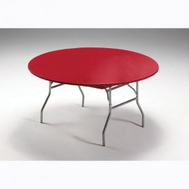 Red Stay Put Plastic Table Covers Round 60