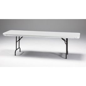 White Stay Put Plastic Table Covers 30