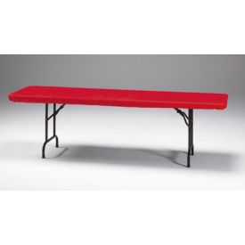 Red Stay Put Plastic Table Covers 30