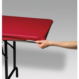Red Stay Put Plastic Table Covers 29