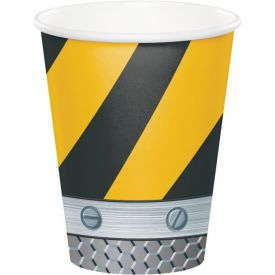 Construction Birthday Zone Cups, Hot/Cold 9 oz
