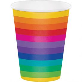 Rainbow 12 oz Hot/Cold Cups