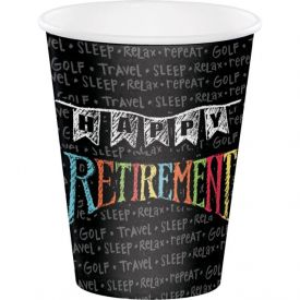 Retirement Chalk 12 oz Hot/Cold Cups