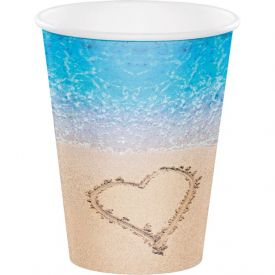 Beach Love Cups, Hot/Cold 12 oz