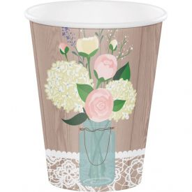 Rustic Wedding 12 oz Hot/Cold Cups