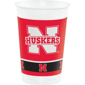 University of Nebraska Plastic Cups, 20 Oz