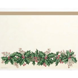 Winter Holly Border Plastic Table Covers 54